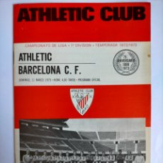 Coleccionismo deportivo: PROGRAMA ATHLETIC CLUB - BARCELONA C. F. TEMPORADA 1972 - 1973. Lote 254744100
