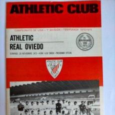 Coleccionismo deportivo: PROGRAMA ATHLETIC CLUB - REAL OVIEDO TEMPORADA 1972 - 1973. Lote 254749155