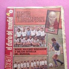 Coleccionismo deportivo: DIARIO DICEN ITALIA CAMPEON MUNDIAL ESPAÑA 82 - ITALY WINNER WORLD CUP 1982 WC GERMANY MARADONA. Lote 255436695