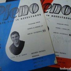 Coleccionismo deportivo: 2 REVISTAS PLENO ACIERTE LOS 14 RESULTADOS Nº 415 Y 423 TEMP. 1973-74 CON REINA DEL ATLETICO DE MAD. Lote 257703760