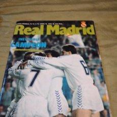 Coleccionismo deportivo: G-74 REVISTA REAL MADRID INEVITABLE CAMPEON Nº 3 JUNIO 1989 INCLUYE POSTER. Lote 257902585