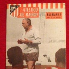 Collectionnisme sportif: REVISTA OFICIAL ATLETICO MADRID # 66 DINAMO ZAGREB CROATIA ATLETICO MADRID WINNERS CUP 1965 1966. Lote 261199800