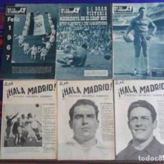 Coleccionismo deportivo: REVISTA HALA MADRID SEMANARIO DEPORTIVO MADRIDISTA 19 20 21 BOLETÍN INFORMATIVO REAL 136 144 200. Lote 261571180