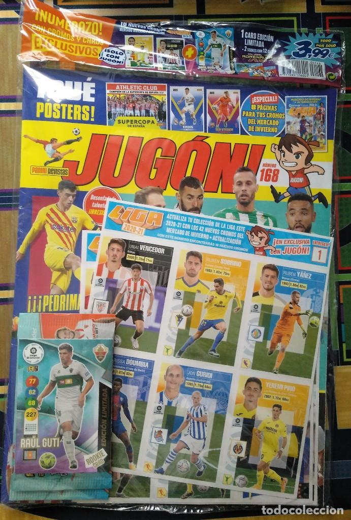 REVISTA JUGON # 168 MERCADO DE INVIERNO LIGA ESTE CROMOS 2020 2021 PRECINTADA RAUL GUTI + 2 SOBRES (Coleccionismo Deportivo - Revistas y Periódicos - otros Fútbol)