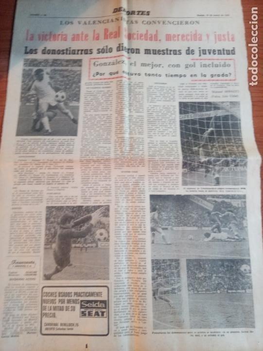 Coleccionismo deportivo: 3 RECORTES DEL JUGADOR DEL VALENCIA GONZALEZ UN GITANO CON DUENDE DE MARZO DEL 1975 - Foto 3 - 262096250