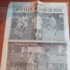 Coleccionismo deportivo: 3 RECORTES DEL JUGADOR DEL VALENCIA GONZALEZ UN GITANO CON DUENDE DE MARZO DEL 1975. Lote 262096250