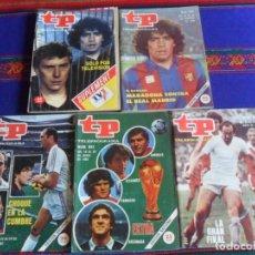 Coleccionismo deportivo: TP TELEPROGRAMA 790 REAL MADRID LIVERPOOL 845 PÓSTER SELECCIÓN ESPAÑA 868 933 119 MARADONA BARÇA.. Lote 262238545