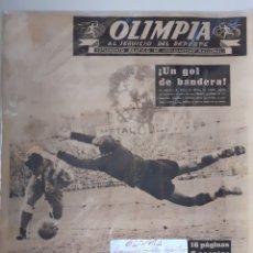 Coleccionismo deportivo: OLIMPIA SEMANARIO GRAFICO DE LOS DEPORTES NÚMERO 4 FECHA 7 DE OCTUBRE DE 1952. Lote 262239850