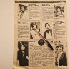 Coleccionismo deportivo: PACO DE ALBA,QUETA CLAVER, PACO VALLADARES, BEATRIZ SAVON, ANA CONTABLE UN DOS TRES RECORTE 1973. Lote 262320650