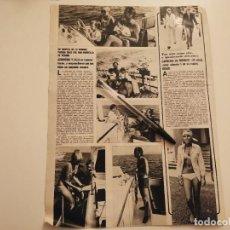 Coleccionismo deportivo: CHARLES AZNAVOUR Y ULLA, CAROLINA DE MONACO 16 AÑOS RECORTE REVISTA 1973. Lote 262325290