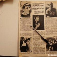 Coleccionismo deportivo: JULIE ANDREWS MARY POPPINS REVERSO RICHARD BURTON Y LIZ TAYLOR RECORTE REVISTA 1973. Lote 262325980