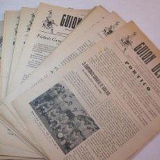 Coleccionismo deportivo: GUION DEPORTIVO-CAPELLADES-LOTE DE 27 NUMEROS-DEL 1 AL 27-AÑOS 50-REVISTA FUTBOL-VER FOTOS(V-22.757). Lote 262784265