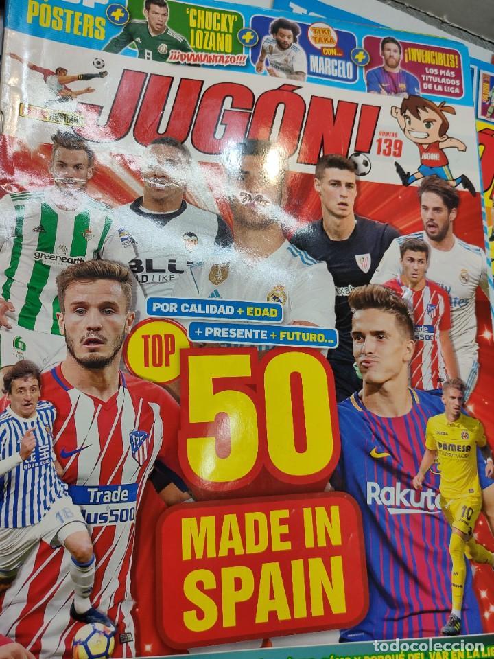 Coleccionismo deportivo: Lote 4 revistas Jugon y 2 guías Adrenalyn - Foto 2 - 263066730