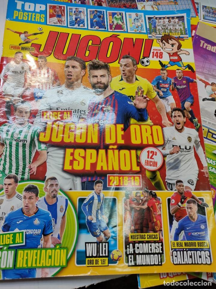 Coleccionismo deportivo: Lote 4 revistas Jugon y 2 guías Adrenalyn - Foto 4 - 263066730