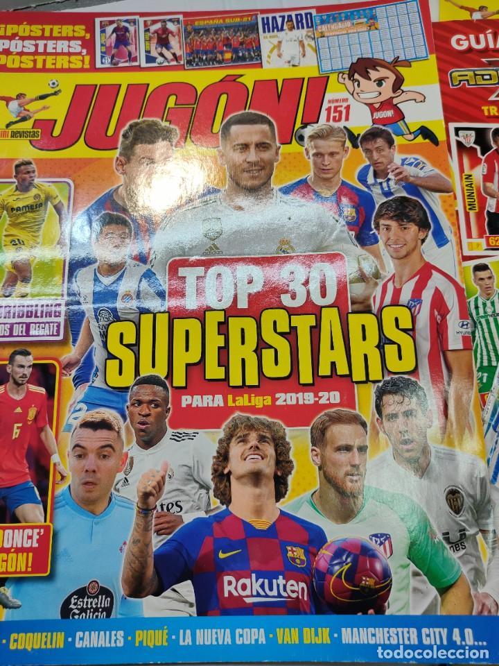 Coleccionismo deportivo: Lote 4 revistas Jugon y 2 guías Adrenalyn - Foto 5 - 263066730