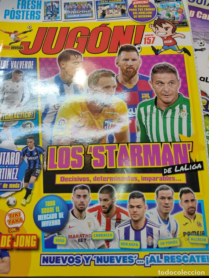 Coleccionismo deportivo: Lote 4 revistas Jugon y 2 guías Adrenalyn - Foto 6 - 263066730