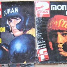 Collectionnisme sportif: LOTE 2 REVISTA DEPORTE 2000 Nº 84 Y 89 DE 1976 DE BOXEO : DURAN Y MONZON CAMPEONES MAGAZINE LOT06. Lote 264247784