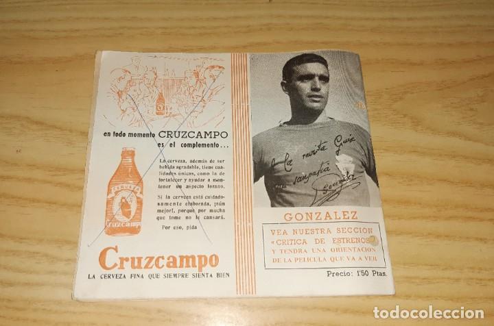 Coleccionismo deportivo: Papel antiguo. Guía semanal de Murcia, 26 Noviembre 1961. Con foto del jugador del Murcia González - Foto 4 - 265771019
