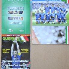 Collectionnisme sportif: 2 REVISTA RIVISTA GUERIN SPORTIVO EXTRA CAMPIONI DEL MONDO ITALIA JULIO 2006 WORLD CUP +POSTER LOT12. Lote 265980413
