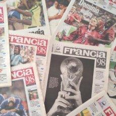 Coleccionismo deportivo: COLECCION COMPLETA DIARIO SUR 34 SUPLEMENTOS MUNDIAL FRANCIA 98 FIFA WC WORLD CUP FRANCE 1998. Lote 266128553