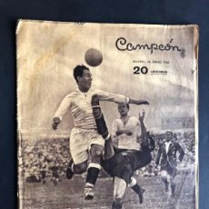 Collectionnisme sportif: CAMPEÓN / REVISTA DE DEPORTES - MADRID 1936 / MADRID F.C CAMPEON DE ESPAÑA / LA FINAL DE MESTALLA. Lote 266138478