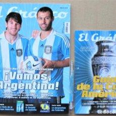 Collectionnisme sportif: REVISTA EL GRAFICO GUIA COPA AMERICA 2011 REVISTA + SUPLEMENTO. TODOS LOS DATOS MAGAZINE REV139. Lote 266216733