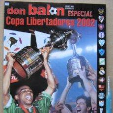 Collectionnisme sportif: REVISTA DON BALON CHILE ESPECIAL COPA LIBERTADORES 2002 EQUIPOS JUGADORES ETC MAGAZINE REV352-R. Lote 266224423
