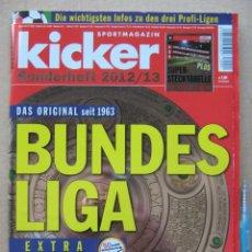 Collezionismo sportivo: REVISTA ZEITSCHRIFT KICKER GERMANY EXTRA BUNDESLIGA 2012-13 ALEMANIA + LIGA I Y II MAGAZINE REV398. Lote 266224913