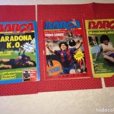 Coleccionismo deportivo: MARADONA - REVISTA BARÇA - AÑO 1983 - LOTE DE 3 EJEMPLARES. Lote 267600829