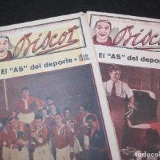 Coleccionismo deportivo: BISCOT-EL AS DEL DEPORTE-NUMEROS 1 Y 2-BIBLIOTECA INFANTIL CINEMATOGRAFICA-VER FOTOS-(K-3095). Lote 267666409