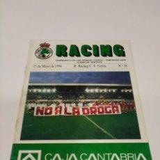Collectionnisme sportif: REVISTA PROGRAMA RACING - LLEIDA.. Lote 267876844