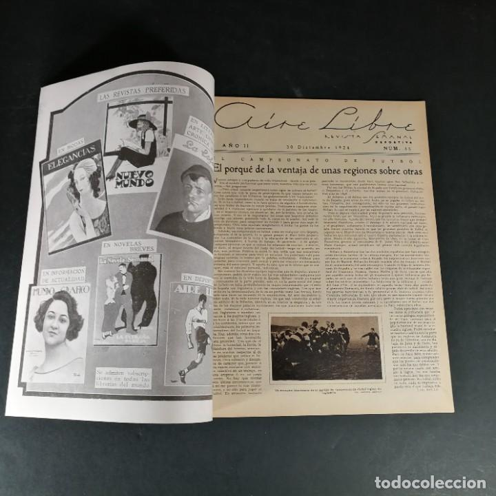 Coleccionismo deportivo: Revista Deportes Aire Libre Nº 55 1924 Fútbol Deportivo Español Barcelona Arenas Bilbao Madrid Irún - Foto 2 - 268570749