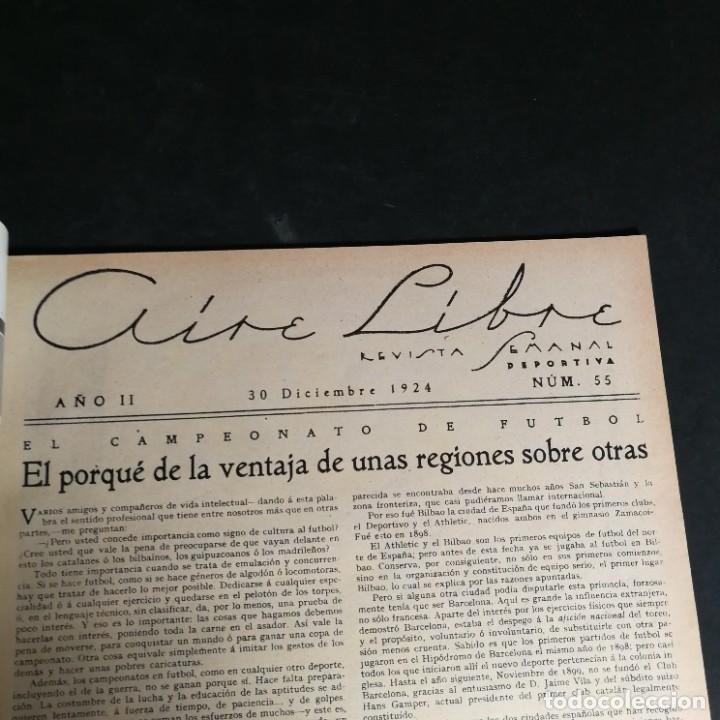 Coleccionismo deportivo: Revista Deportes Aire Libre Nº 55 1924 Fútbol Deportivo Español Barcelona Arenas Bilbao Madrid Irún - Foto 3 - 268570749
