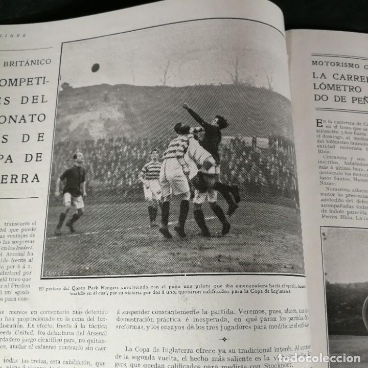 Coleccionismo deportivo: Revista Deportes Aire Libre Nº 55 1924 Fútbol Deportivo Español Barcelona Arenas Bilbao Madrid Irún - Foto 4 - 268570749