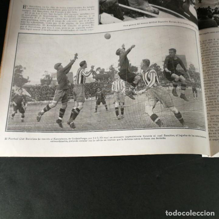 Coleccionismo deportivo: Revista Deportes Aire Libre Nº 55 1924 Fútbol Deportivo Español Barcelona Arenas Bilbao Madrid Irún - Foto 7 - 268570749