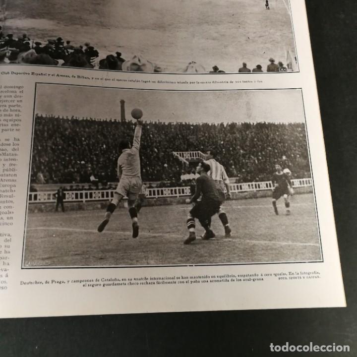 Coleccionismo deportivo: Revista Deportes Aire Libre Nº 55 1924 Fútbol Deportivo Español Barcelona Arenas Bilbao Madrid Irún - Foto 8 - 268570749