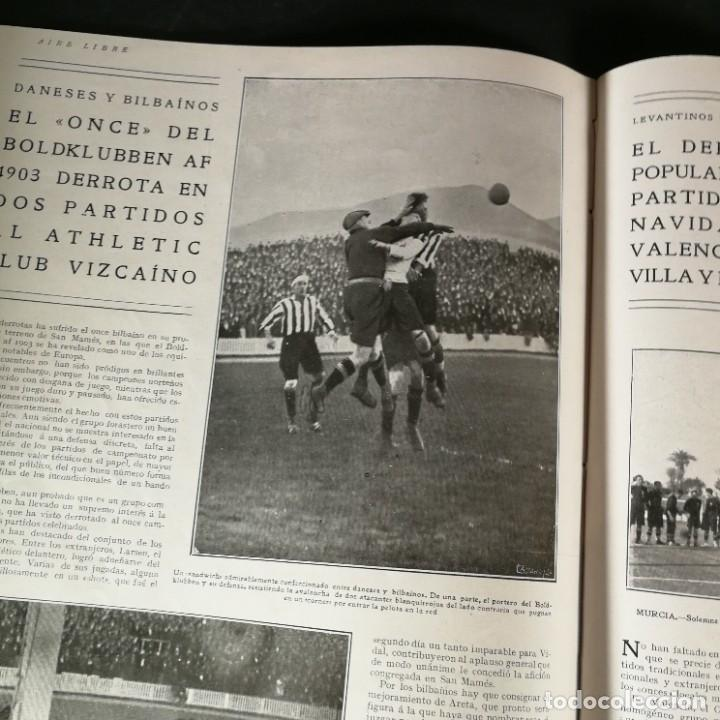 Coleccionismo deportivo: Revista Deportes Aire Libre Nº 55 1924 Fútbol Deportivo Español Barcelona Arenas Bilbao Madrid Irún - Foto 10 - 268570749