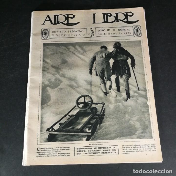 REVISTA DEPORTES AIRE LIBRE Nº 57 1925 FÚTBOL DEPORTIVO ESPAÑOL TARRASA ATHLETIC BILBAO RACING (Coleccionismo Deportivo - Revistas y Periódicos - otros Fútbol)
