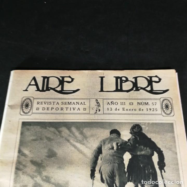 Coleccionismo deportivo: Revista Deportes Aire Libre Nº 57 1925 Fútbol Deportivo Español Tarrasa Athletic Bilbao Racing - Foto 2 - 268571069