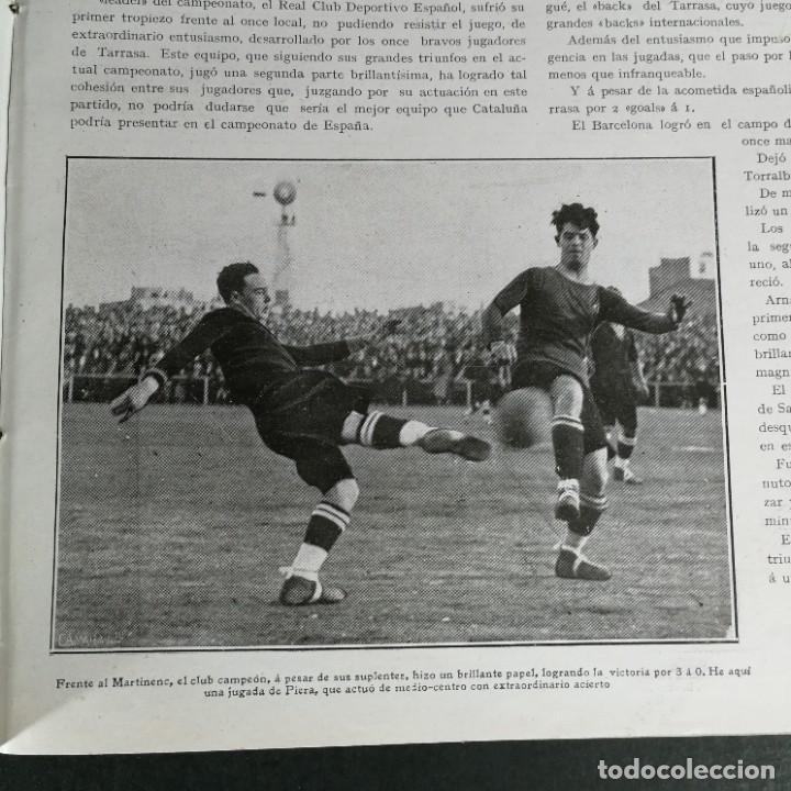 Coleccionismo deportivo: Revista Deportes Aire Libre Nº 57 1925 Fútbol Deportivo Español Tarrasa Athletic Bilbao Racing - Foto 3 - 268571069