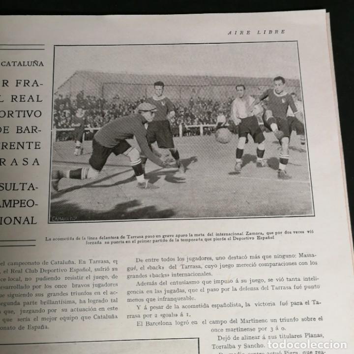 Coleccionismo deportivo: Revista Deportes Aire Libre Nº 57 1925 Fútbol Deportivo Español Tarrasa Athletic Bilbao Racing - Foto 4 - 268571069