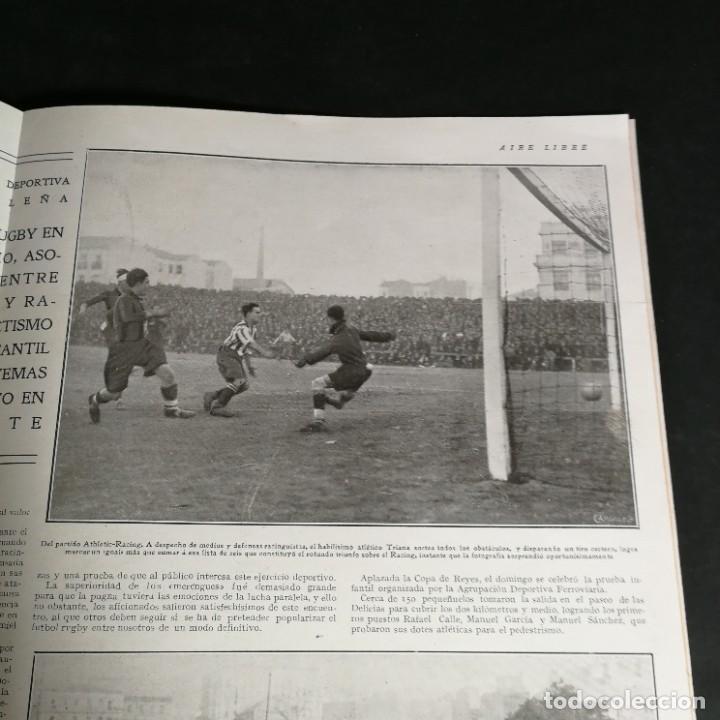 Coleccionismo deportivo: Revista Deportes Aire Libre Nº 57 1925 Fútbol Deportivo Español Tarrasa Athletic Bilbao Racing - Foto 7 - 268571069