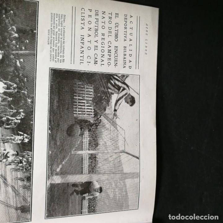 Coleccionismo deportivo: Revista Deportes Aire Libre Nº 57 1925 Fútbol Deportivo Español Tarrasa Athletic Bilbao Racing - Foto 9 - 268571069