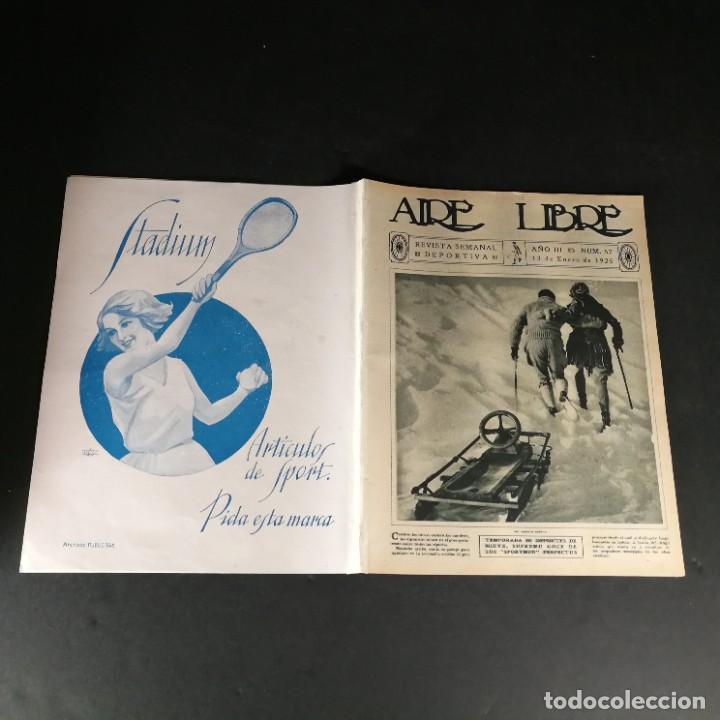 Coleccionismo deportivo: Revista Deportes Aire Libre Nº 57 1925 Fútbol Deportivo Español Tarrasa Athletic Bilbao Racing - Foto 10 - 268571069