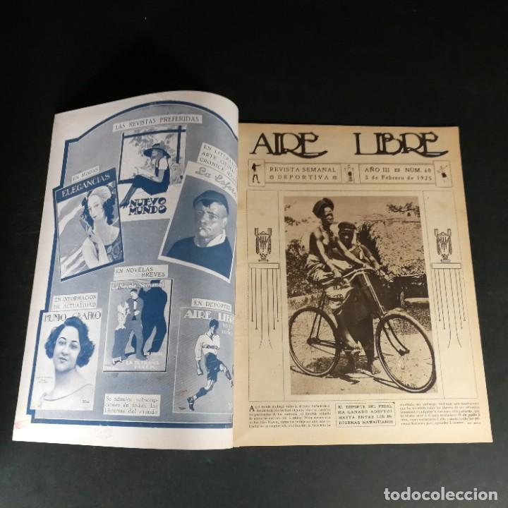 Coleccionismo deportivo: Revista Deportes Aire Libre Nº 60 1925 Fútbol Tarrasa Barcelona Real Madrid Unión Sporting Español - Foto 2 - 268571589