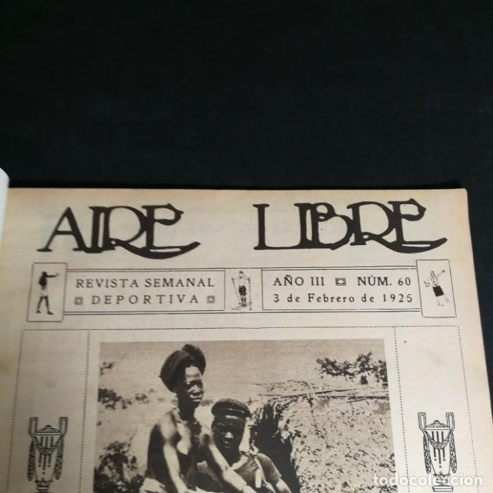 Coleccionismo deportivo: Revista Deportes Aire Libre Nº 60 1925 Fútbol Tarrasa Barcelona Real Madrid Unión Sporting Español - Foto 3 - 268571589