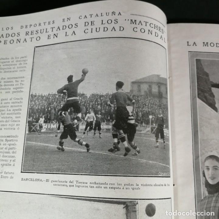 Coleccionismo deportivo: Revista Deportes Aire Libre Nº 60 1925 Fútbol Tarrasa Barcelona Real Madrid Unión Sporting Español - Foto 4 - 268571589
