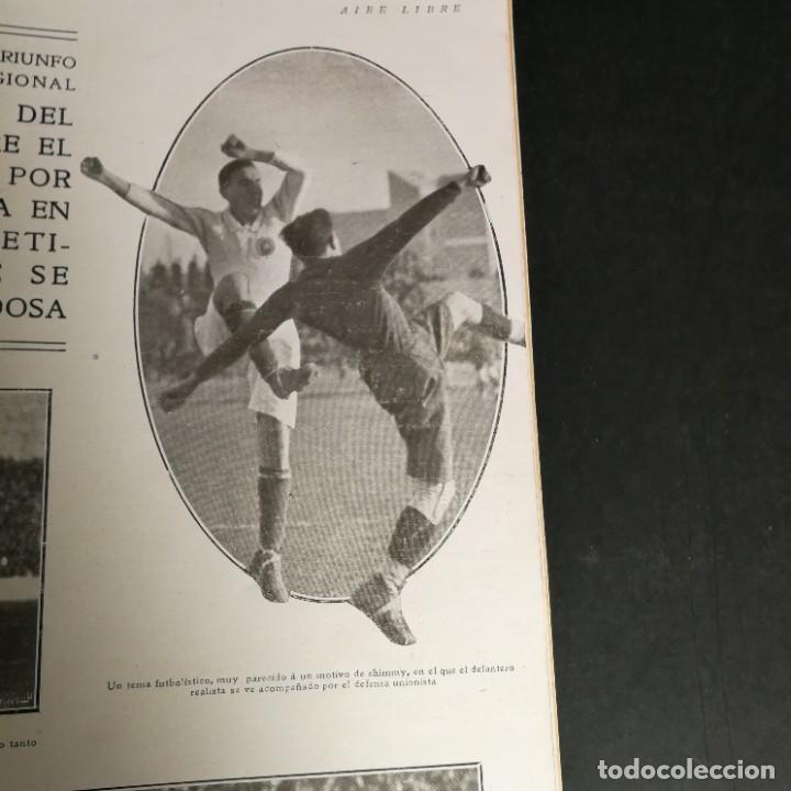 Coleccionismo deportivo: Revista Deportes Aire Libre Nº 60 1925 Fútbol Tarrasa Barcelona Real Madrid Unión Sporting Español - Foto 7 - 268571589