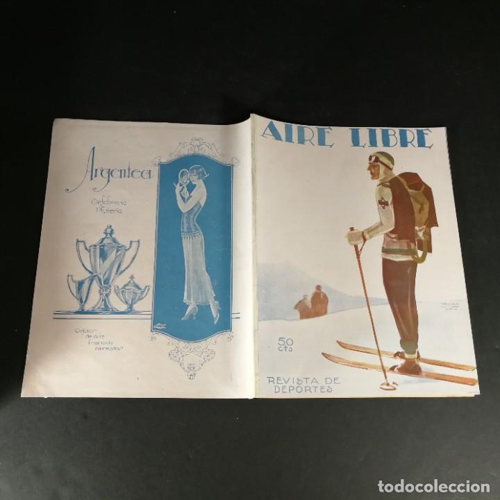 Coleccionismo deportivo: Revista Deportes Aire Libre Nº 60 1925 Fútbol Tarrasa Barcelona Real Madrid Unión Sporting Español - Foto 9 - 268571589