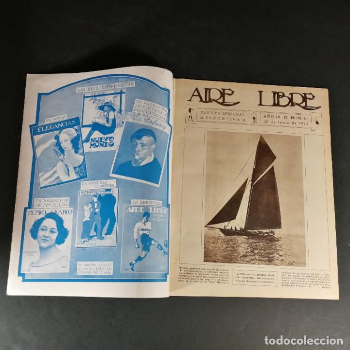 Coleccionismo deportivo: Revista Deportes Aire Libre Nº 81 1925 Ciclismo Motociclismo Hípica - Foto 2 - 268571809
